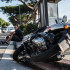 Marco Montes, 26, was nearly struck on his scooter around 7:15 Monday morning by a student driving her car northbound on Crenshaw Boulevard as Montes was going southbound. Photo credit: Patricklee Hamilton