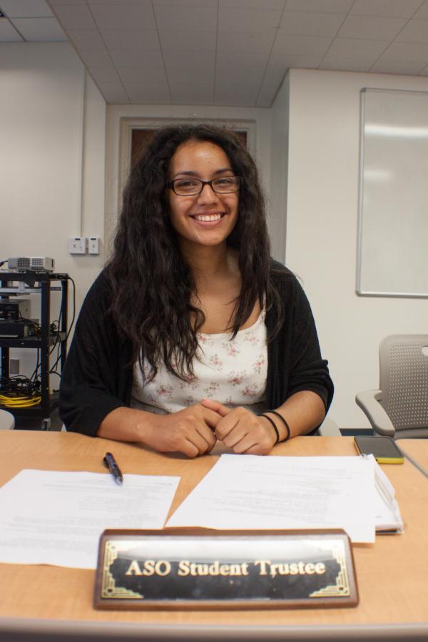 Student Trustee Garcia embraces new job and duties