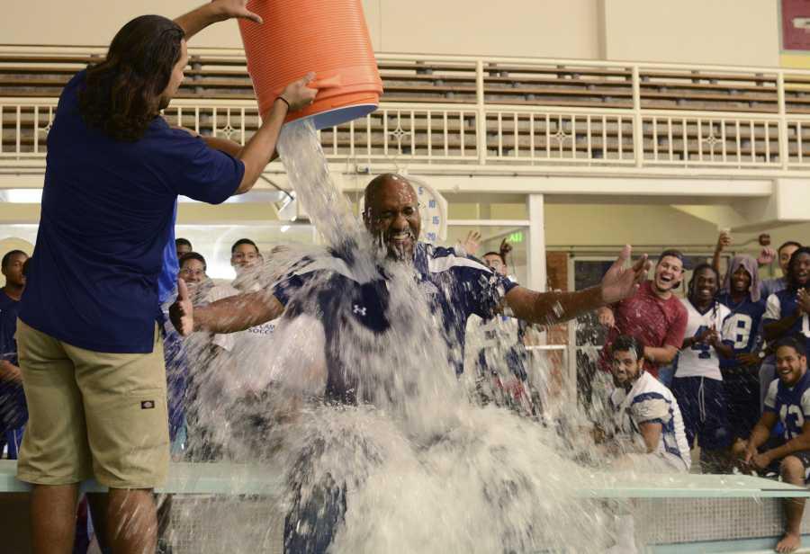 Trustee Ken Brown takes ALS Ice Bucket Challenge